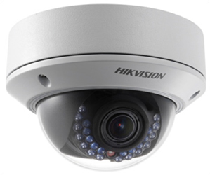 Hikvision>> Caméra IP Mini Dôme Anti vandale IR20m, 1.3MP, VF 2.8-12mm, DS-2CD2712F-I